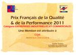 diplome-du-PRIX-FRANCAIS-DE-LA-QUALITE-ET-DE-LA-PERFORMANCE-2011
